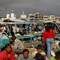 Marché en Equateur