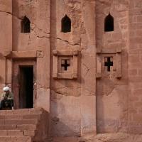 Ethiopie, la maison de l'abbé Libanos à Lilibela